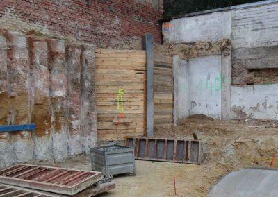 Baugrubenverbau Knauerstr für Errichtung