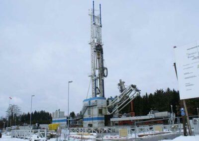 Bohrplatz und Geothermie